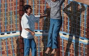 Back Lane Playground No 2 - Flying Boy