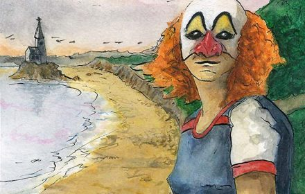 Rhossili Clown Girl Featured