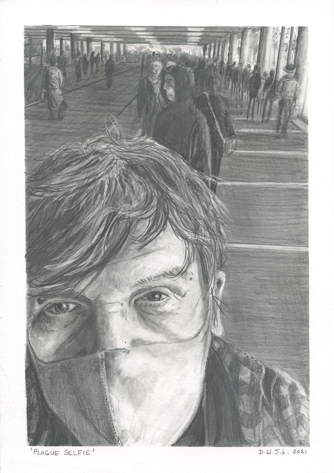 Plague Selfie - Drawing